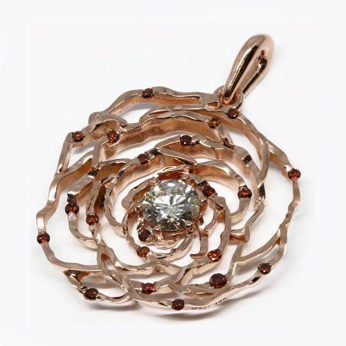 Custom designed flower pendant